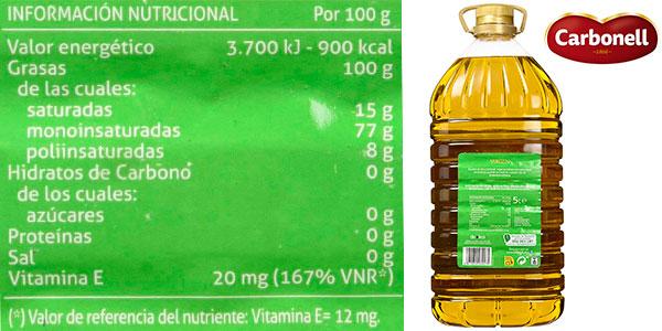 Chollo Garrafa de aceite de oliva virgen Carbonell (5 litros)