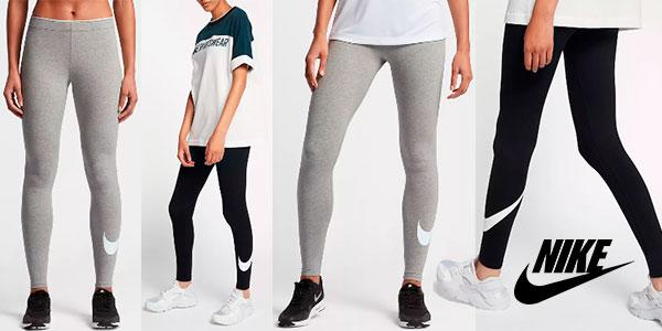 Leggings deportivos Nike con Swoosh para mujer
