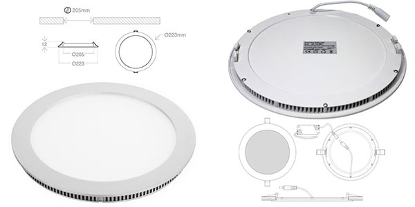 Chollo Pack de 5 focos LED Downlight plano de aluminio
