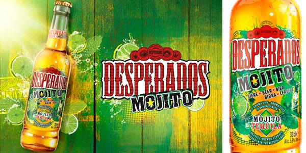 Chollo Pack de 24 botellines de cerveza Desperados Mojito de 330 ml