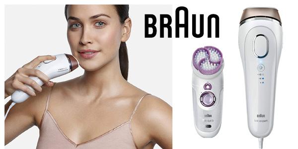 Depiladora de luz pulsada Braun Silk-expert 5 IPL BD 5009 con cepillo sónico de exfoliación chollo en Amazon
