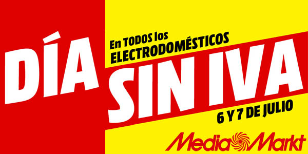 Día sin IVA Media Markt electrodomésticos