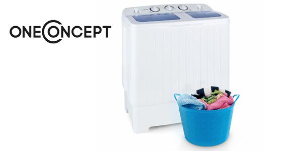 oneConcept Ecowash XL Lavadora para camping 4,2 kg Centrifugadora 3 kg barata en eBay