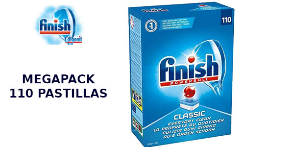Lavavajillas Finish Calgonit clásico Megapack de 110 pastillas barato en Amazon