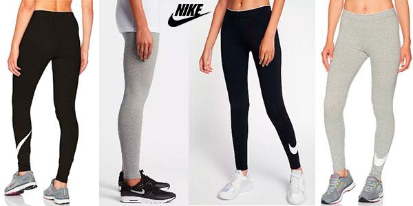 Leggings deportivos Nike con Swoosh para mujer baratos
