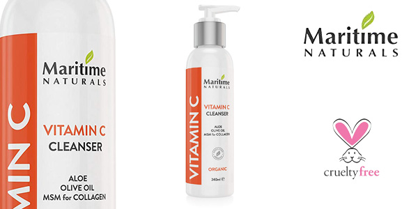 Limpiador facial Maritime Naturals de calidad superior con vitamina C barato en Amazon