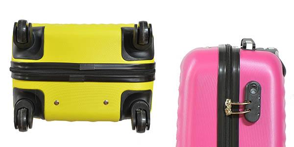 maleta rígida de mano con ruedas y las medidas de cabina permitidas por todas las aerolíneas oferta