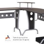 Mesa grande de oficina, estudio o despacho en L de 165x145x86 cm barata en eBay