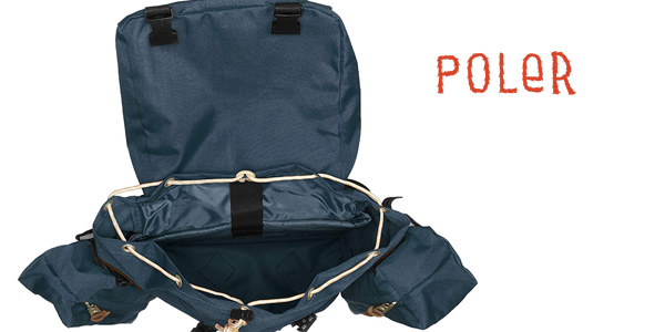 Mochila mediana Classic Rucksack Poler Stuff azul chollo en Amazon