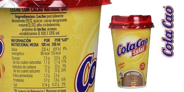 Pack de10 Vasos de Cola-Cao Shake de 200 ml chollo en Amazon