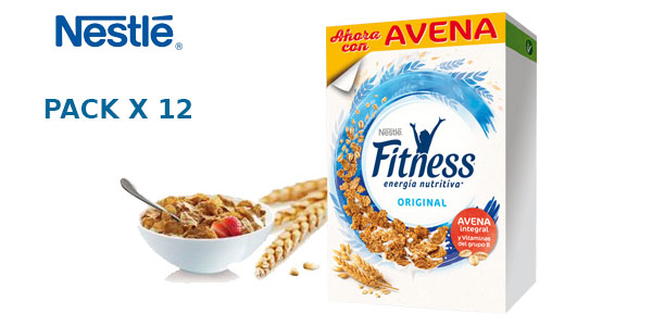 Pack de 12 paquetes de Fitness Cereales Original barato en Amazon