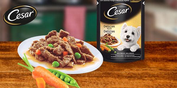Pack de 24 Bolsitas de Delicias en Salsa de Pollo y Verduras para perros chollo en Amazon