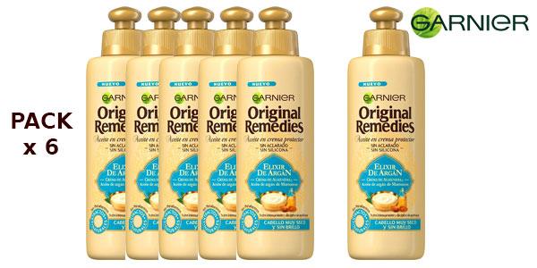 Pack de 6 Botes de Aceite en crema protector Garnier Original Remedies Elixir de argán barato en Amazon