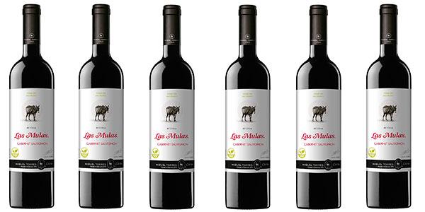 Pack de 6 botellas de vino tinto Las Mulas Cabernet Sauvignon (750 ml) barato