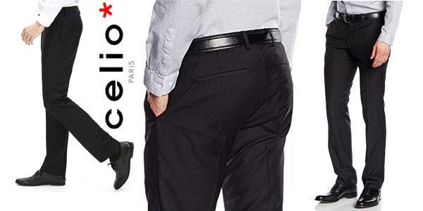 Pantalones de vestir Celio Dohit en color negro para hombre baratos en Amazon