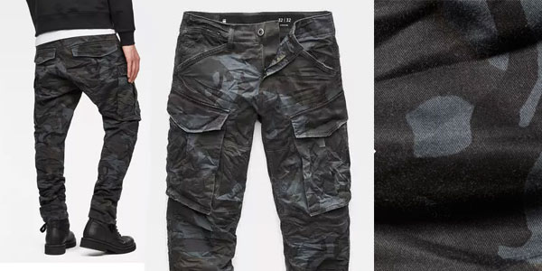 Pantalones militares G-Star Raw Rovic 3D rebajados en Amazon