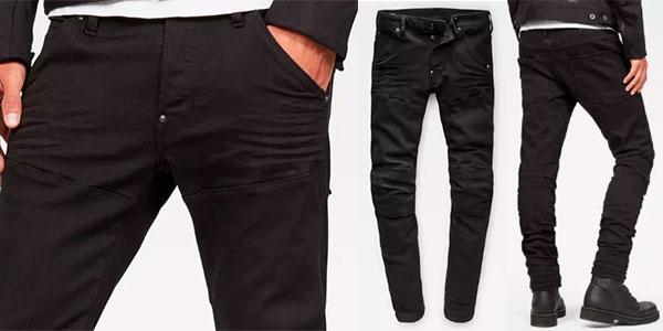 Pantalones vaquerosG-Star 5620 3D negro slim para hombre baratos