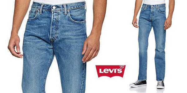 Pantalones vaqueros Levi's 501 Original Straight Fit baratos en Amazon