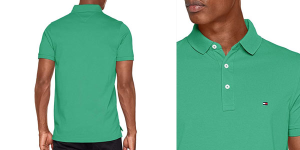 Polo ajustado Tommy Hilfiger Slim en color verde barato en Amazon