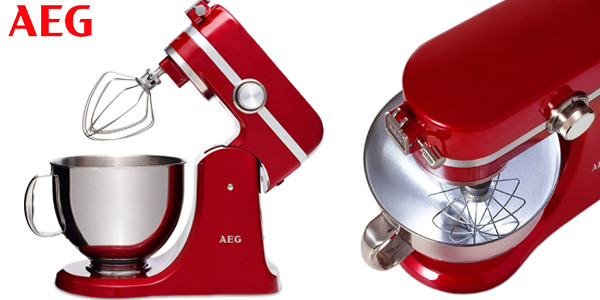 Robot de cocina AEG KM4000 de 1000 W en color rojo chollo en Amazon