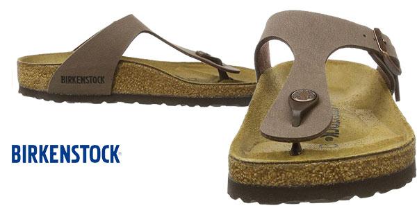 Sandalias Birkenstock Gizeh BK 043751 en color marrón mocca chollazo en Amazon