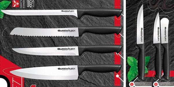 Set de 15 piezas de cocina cuchillos pelador y tijeras Quttin chollazo en eBay