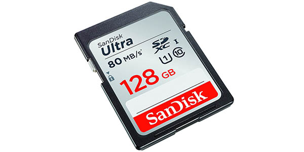 Tarjeta SDXC SanDisk de 128 GB barata