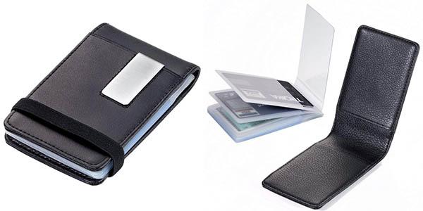 tarjetero Troika con fundas de plástico para tarjetas de crédito barato