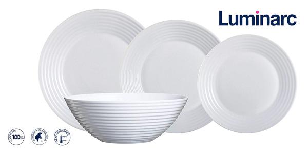 Vajilla redonda Luminarc Harena de 19 piezas en color blanco chollo