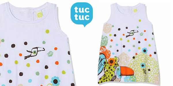 Vestido punto S/M Jungle Draw Tuc Tuc para niñas barato en Amazon