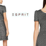 Vestido Esprit de manga corta en color negro estampado para mujer barato en Amazon