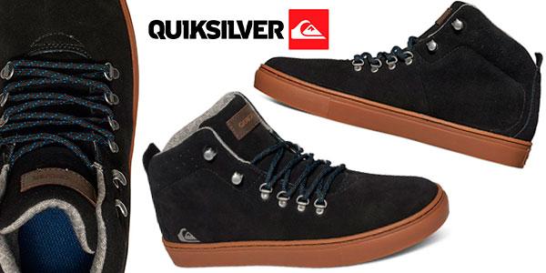 Zapatillas de media bota Quiksilver Jax de color negro para hombre baratas