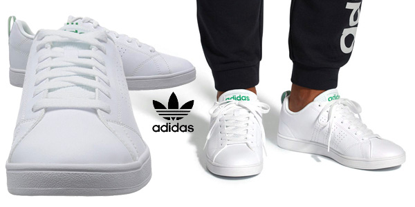 Zapatillas Adidas Vs Advantage Cl en color blanco para hombre chollo en Amazon