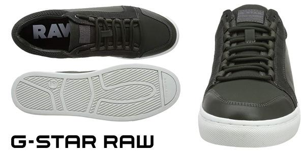 Zapatillas deportivas G-Star Raw Zlov Cargo Mid en color verde para hombre chollo en Amazon