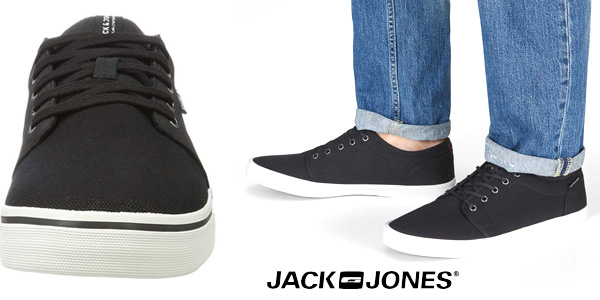 Zapatillas deportivas Jack & Jones Jfwbanda Canvas Mix Anthracite en gris antracita chollazo en Amazon