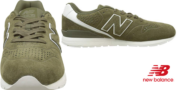 Zapatillas deportivas New Balance 996 Leather en color khaki para hombre chollazo en Amazon