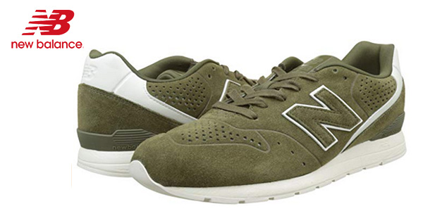Zapatillas deportivas New Balance 996 Leather en color khaki para hombre baratas en Amazon