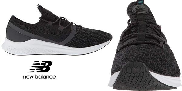 Zapatillas running New Balance Fresh Foam Lazr Sport en color negro para hombre chollazo en Amazon