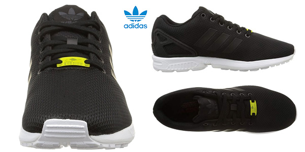 Zapatillas running unisex Adidas Zx Flux en color negro chollazo en Amazon