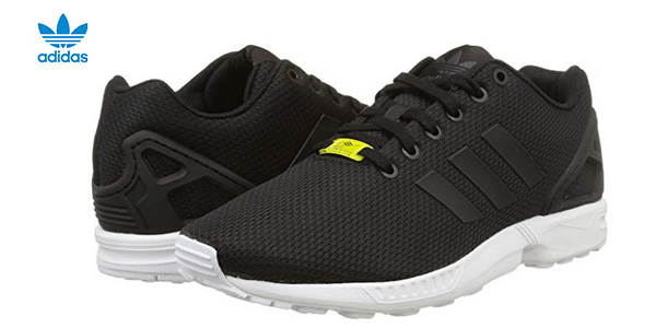 Zapatillas running unisex Adidas Zx Flux en color negro baratas en Amazon