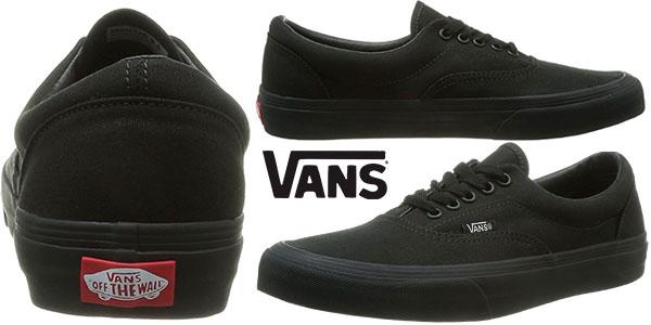 Zapatillas Vans Era de color negro para hombre baratas