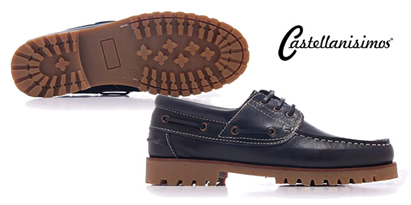 Zapatos náuticos Castellanísimos para hombre color azul chollo en Amazon