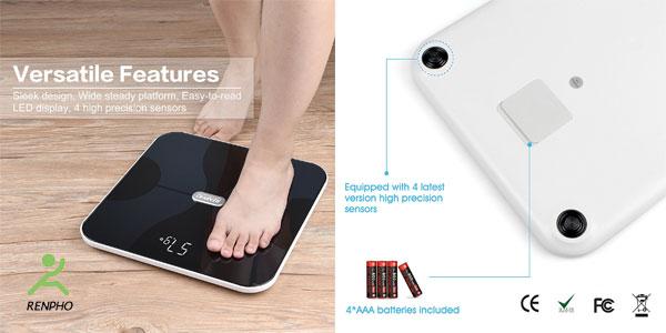 Báscula inteligente Renpho corporal inalámbrica con App para Android e iOS chollazo en Amazon