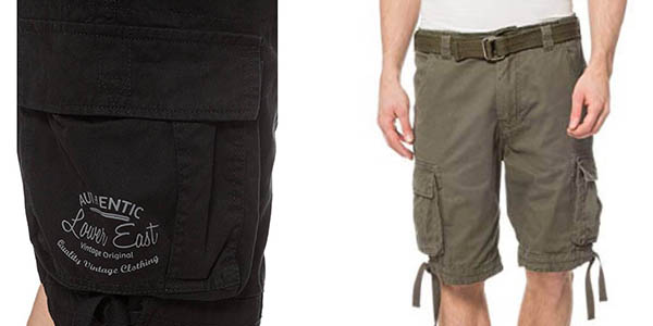 bermudas cargo Lower East oferta Amazon