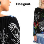Blusa Desigual Great Moments en negro barata en Amazon
