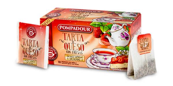 cajas de infusiones Pompadour Tarta de queso con fresas oferta