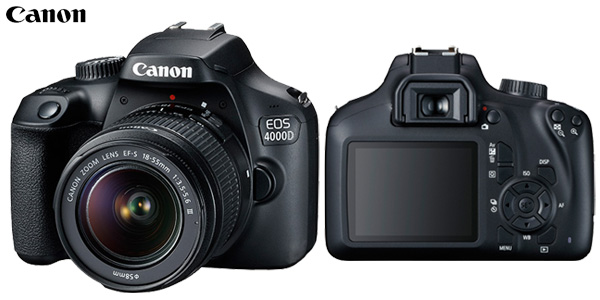 Kit Cámara Canon EOS 4000D + objetivo EF-S 18-55mm III barato en eGlobal Central