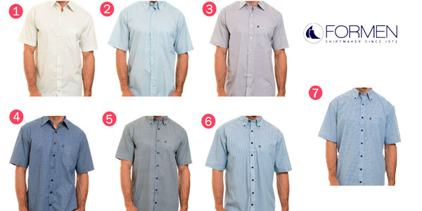 Camisa de manga corta For Men Regular Fit en varios modelos oferta en eBay