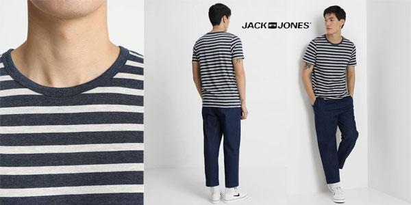 Camiseta de rayas Jack & Jones Jjestripe tee SS Crew Neck STS para hombre chollazo en Amazon