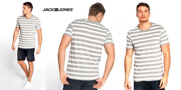 Camiseta de rayas Jack & Jones Jjestripe tee SS Crew Neck STS para hombre barata en Amazon
